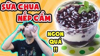 """Phản ứng người Hàn lần đầu ăn Sữa Chua Nếp Cẩm ngon """"hết hồn"""" ???"""