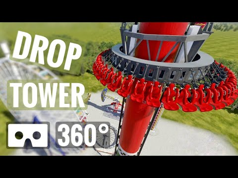 360 video Gyro Drop Tower 360° Roller Coaster Flat Ride Oculus Rift S