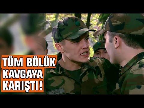 BÖLÜKTE ŞOK KAVGA! Ferit ile Asker'in Kavgası Tüm Bölüğe YANSIDI!
