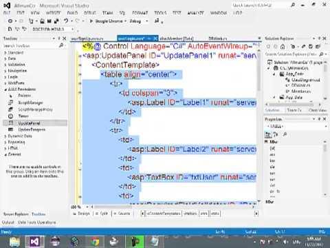 14-ASP.NET C# - Validation(RequiredField,Compare,RegularExpression), AJAX Controls ScriptManager, UpdatePanel, UpdateProgress