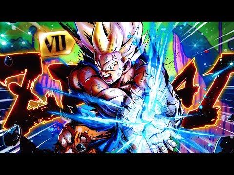 This Guy Is... INSANE! Zenkai Level 7 SSJ Goku In Dragon Ball Legends DB
