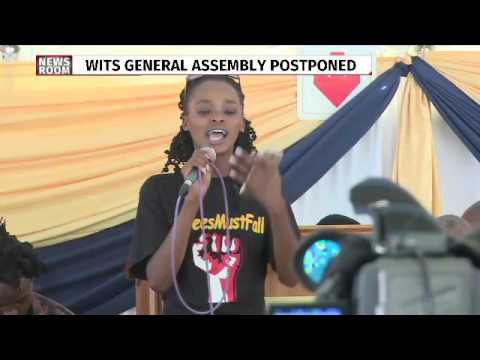 Busisiwe Seabe addresses Wits General Assembly
