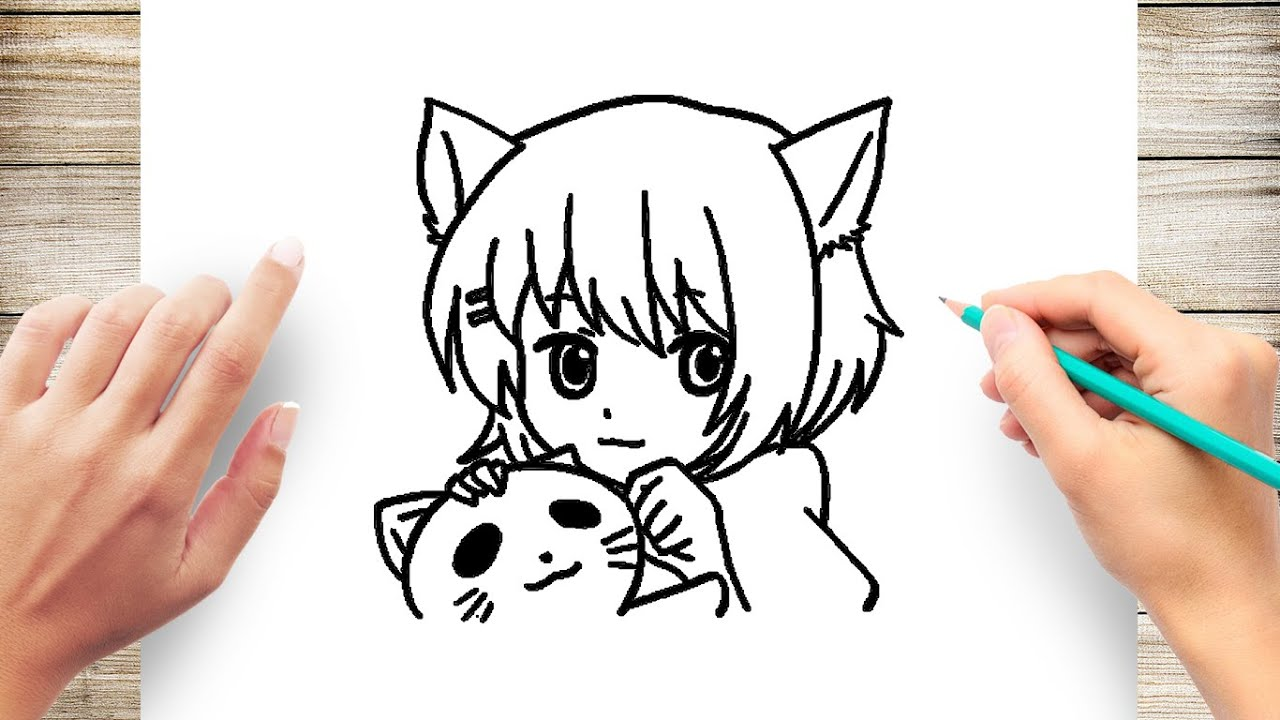 How To Draw Kawaii Neko Cat Girl  Anime Cat Girl