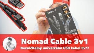 🌋 NEJODOLNĚJŠÍ USB kabel na světě? Nomad Universal Cable nepřetrhnete ani párem volů!!!
