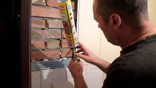 пластиковые панели   на стене(Продолжаем шить пластиковые панели, и дальше облагораживать тех. помещение., 2014-09-29T21:08:09.000Z)