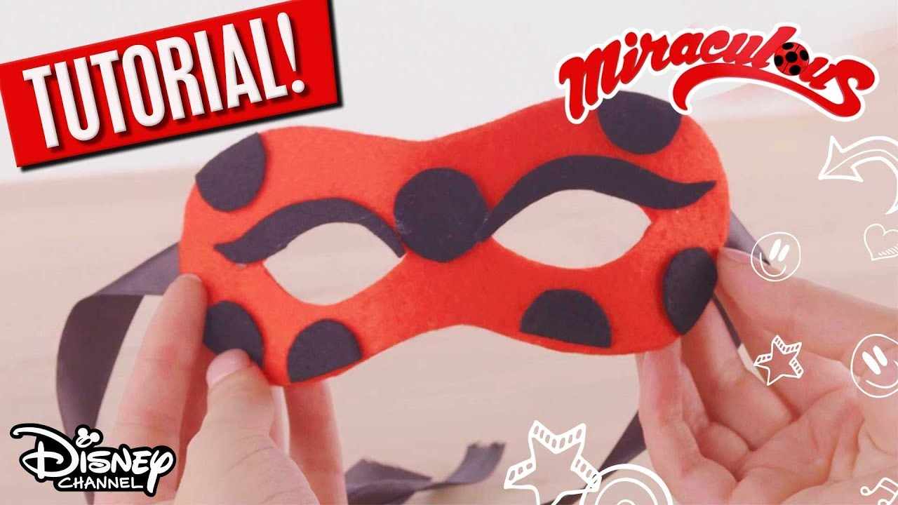 Diy Miraculous Masken Ladybug Cat Noir Youtube