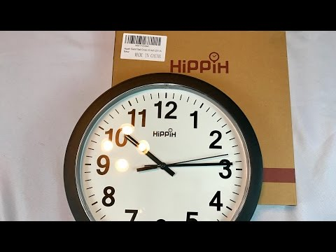 Hippih Silent quartz Wall Clock,12 Inch 2311A review