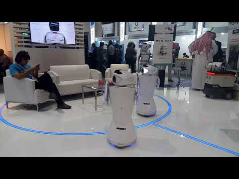 Dance at Gitex by SANBOT