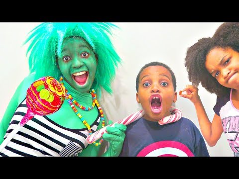 Thumbnail: Bad Baby Giant Chupa Chups Lollipops and Giant Candy Chocolate Troll! Shasha and Shiloh - Onyx Kids