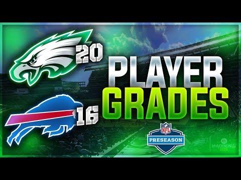 DARBY IS A GOD + Alshon Debut | Eagles 20 Bills 16 - Preseason Player Grades