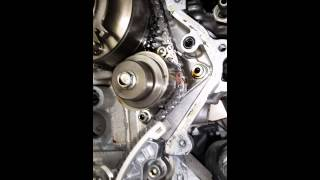 2011 infinity QX56 bottom end timing chain marks