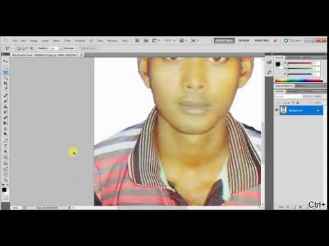 Malaysia Student visa photo size in Photoshop