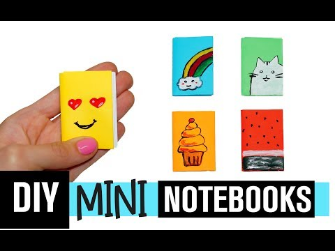 DIY MINI NOTEBOOKS | Easy Mini Notebook from TWO sheet of Paper | NO GLUE | Julia DIY
