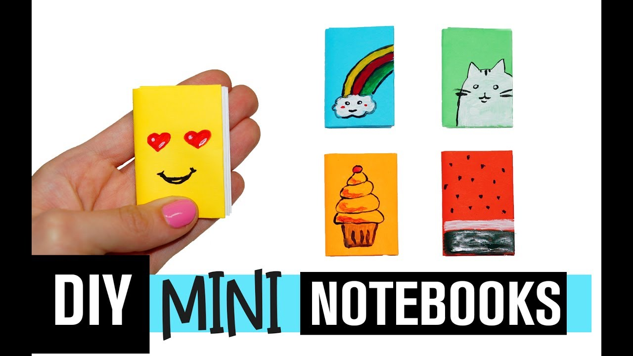 DIY MINI NOTEBOOKS | Easy Mini Notebook from TWO sheet of ...