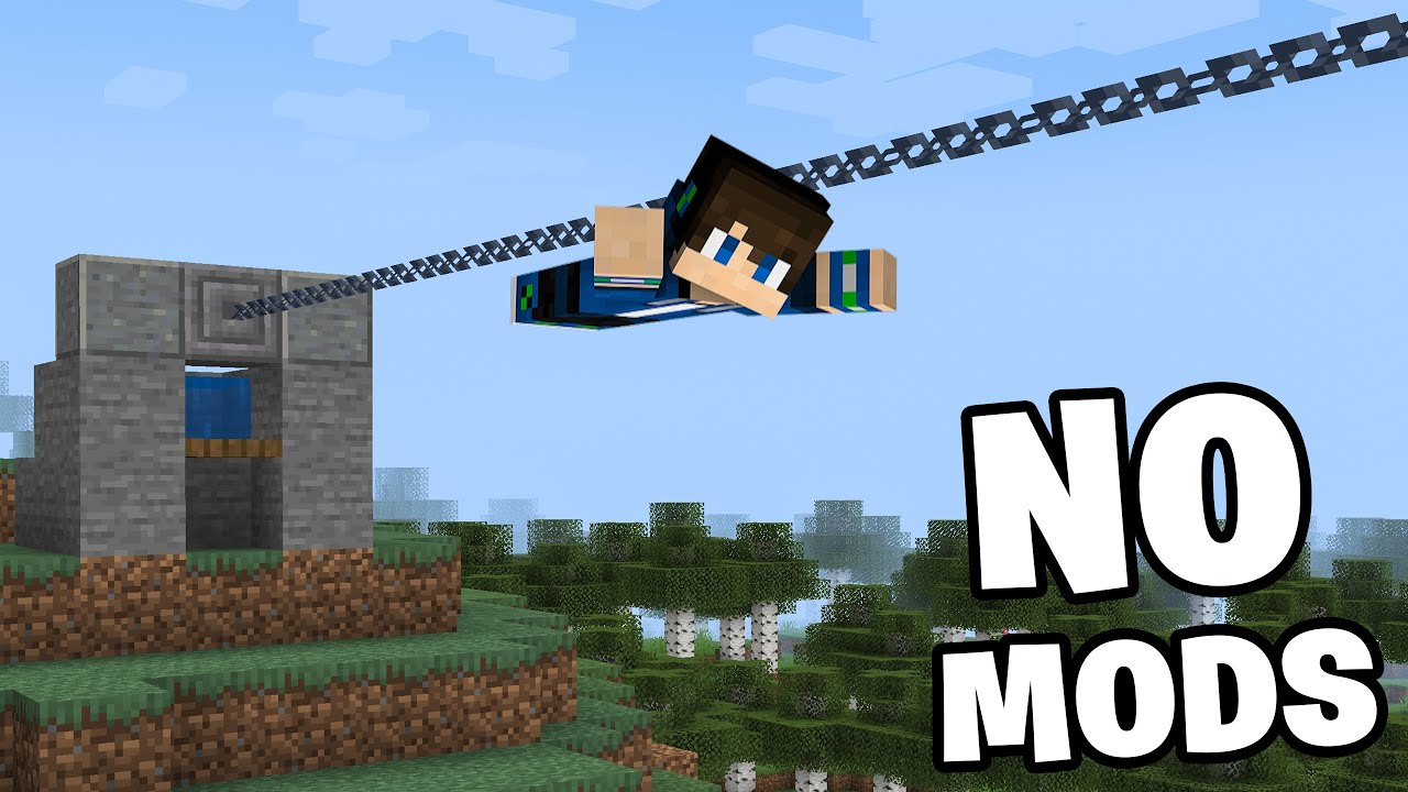 How to Make a Working Zipline in Minecraft! (Easy)