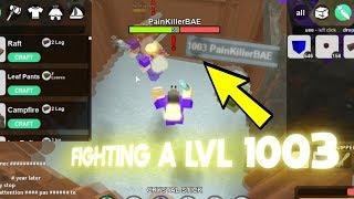 FIGHTING A LVL 1003 IN BOOGA BOOGA!!! (Roblox Booga Booga)