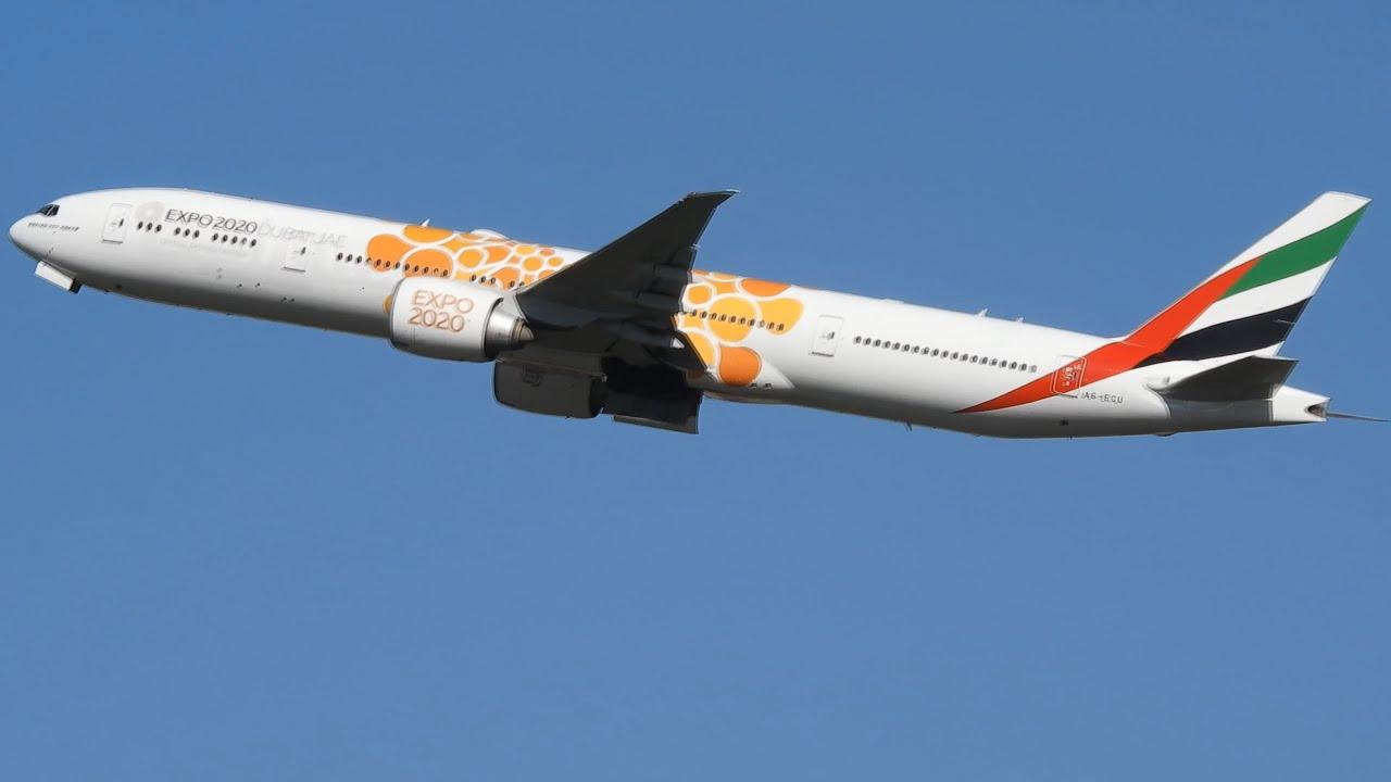 DOIS EMIRATES 777-300ER POUSO E DECOLAGEM EM GUARULHOS SÃO PAULO