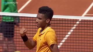Brilliant Auger-Aliassime Shots v Jaziri | Barcelona Open 2019