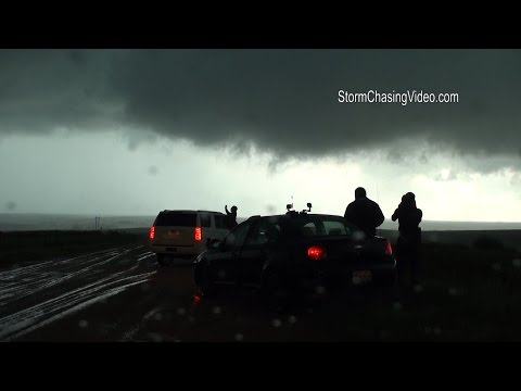 Juston Drake & Simon Brewer Live Storm Chase Entercept Tornado Near Lawton, OK - 5/8/2016