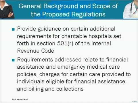 Proposed Regulations on Additional Requirements for Charitable Hospitals