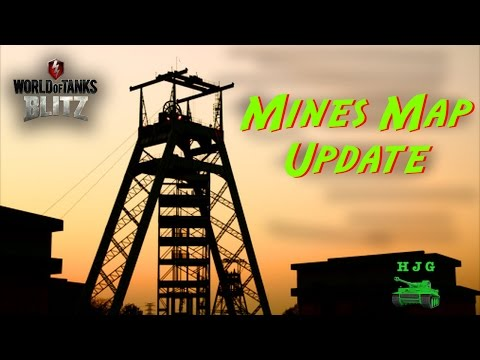 World of Tanks BLITZ - Map Review - Mines Updated!!