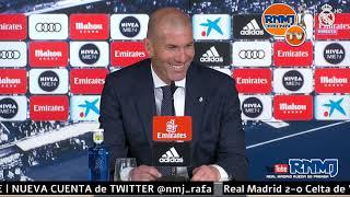 Rueda de prensa de ZIDANE post Real Madrid 2-0 Celta de Vigo Liga Jornada 28 (16/03/19)
