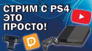 как настроить стрим с PS4 без карты видеозахвата