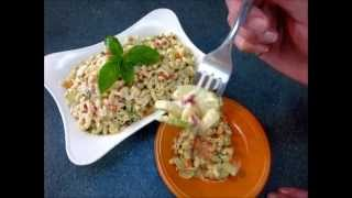 Summertime Veggie & Tuna Macaroni Salad - How To Make Vegetable And Tuna Pasta Salad