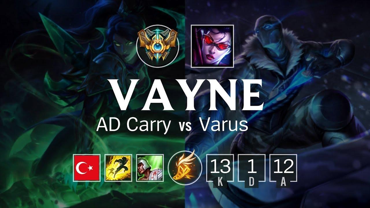 Vayne AD Carry vs Varus - TR Challenger Patch 8.7