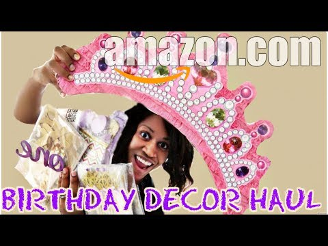 AMAZON BIRTHDAY DECOR HAUL 2018| LAVENDER PURPLE GOLD PARTY THEME FOR GIRL