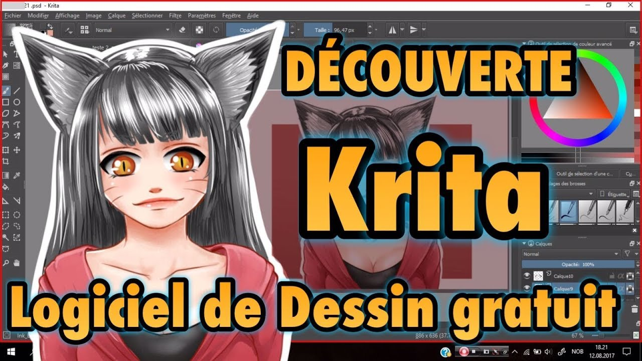 krita logiciel de dessin gratuit youtube. Black Bedroom Furniture Sets. Home Design Ideas