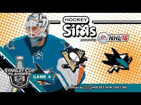 Penguins vs Sharks: Game 4 (NHL 16 Hockey Sims)