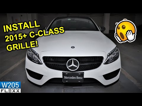 HOW TO install 2015+ Mercedes C-Class W205 diamond grille