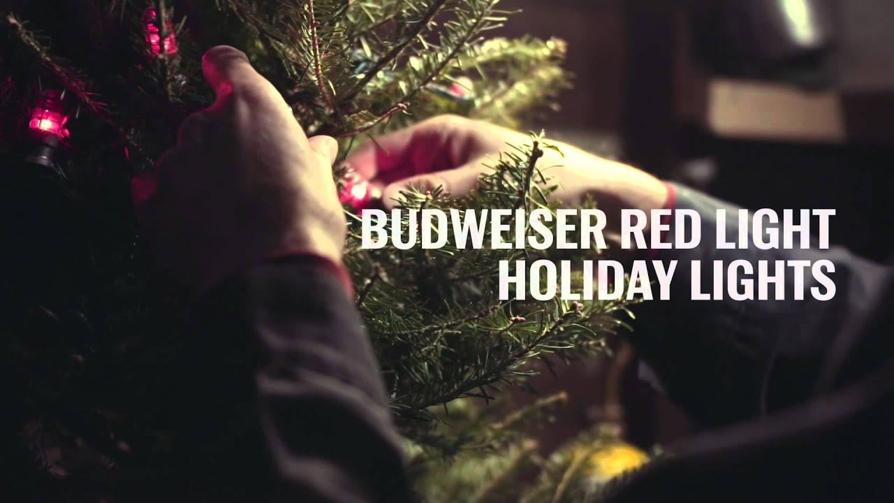 Budweiser Red Light Holiday Lights YouTube - Budweiser Christmas Lights