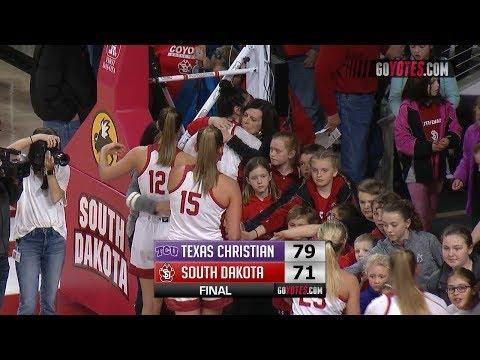 WBB Highlights: South Dakota 71, TCU 79 (WNIT)