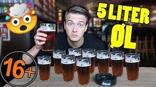 KAN JEG DRIKKE 5 LITER ØL!? (Challenge) 16+ *VANDSKADE*