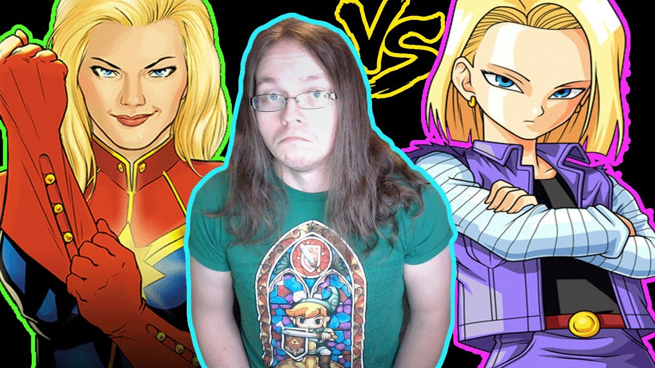 let's watch android 18 vs captain marvel | death battle! - youtube