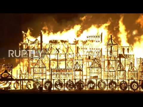 UK: London's Burning! - Great Fire of 1666 commemorated on 350th anniversary