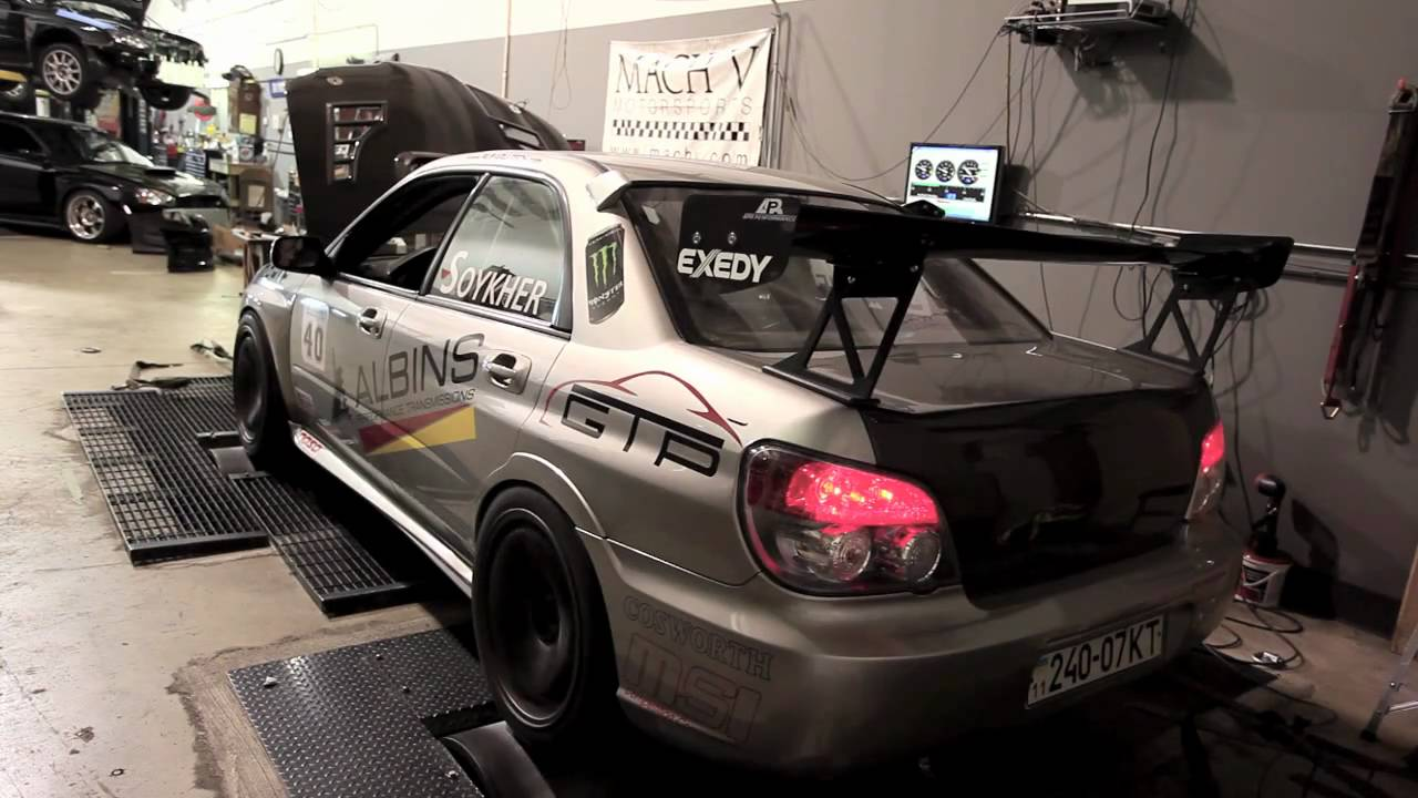 2006 WRX STI dyno run - 565 hp! - YouTube