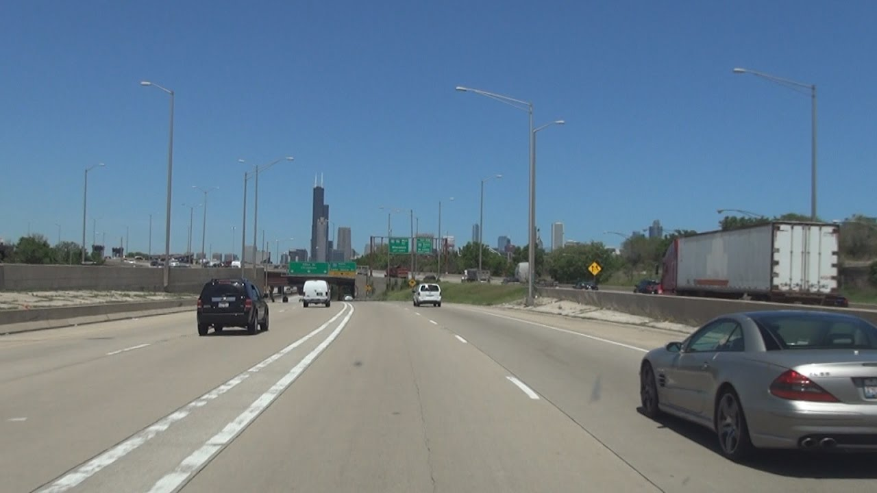 I-90 & I-94: The Dan Ryan Expressway in Chicago, Illinois