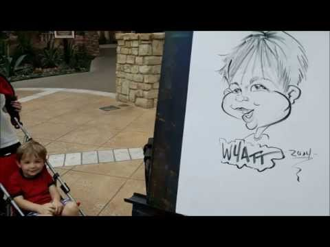 2014 caricatures - parties, mall art, corp. events
