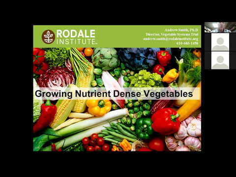Webinar: Growing Nutrient Dense Vegetables