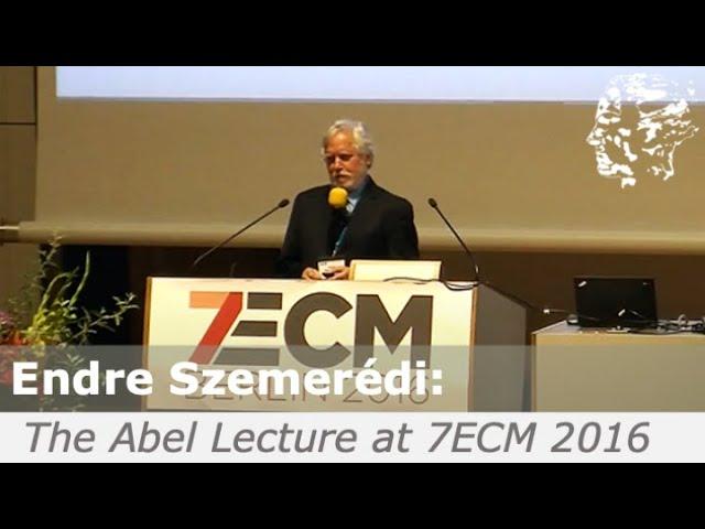 Endre Szemerédi Abel Lecture at the 7ECM Berlin 2016