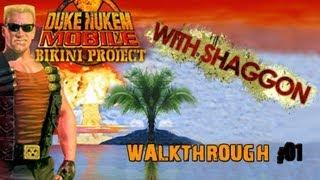 100% Walkthrough: Duke Nukem Mobile II: Bikini Project [01 - Zeppelin Loading Bay]