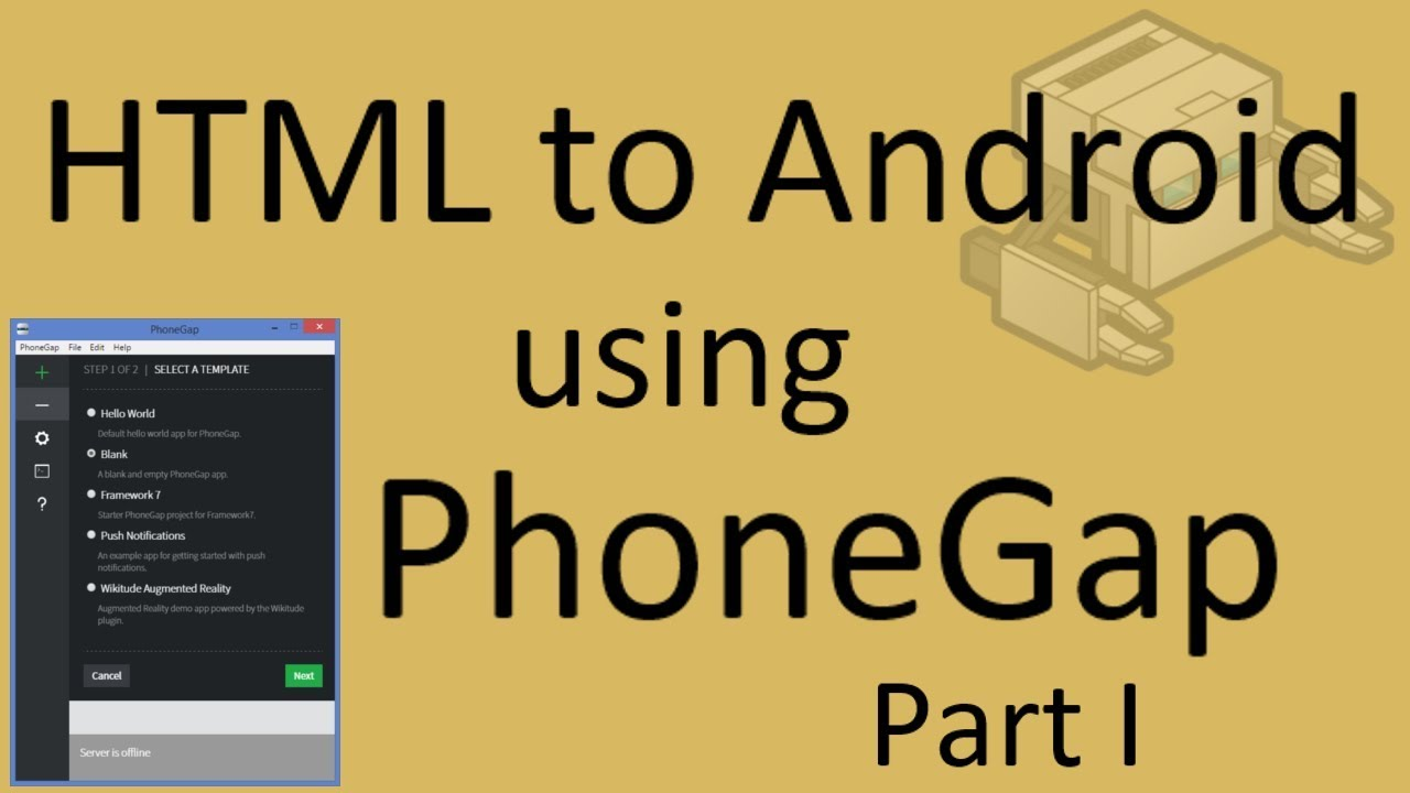 Free phonegap tutorial for android & ios for beginners tutorial 1.