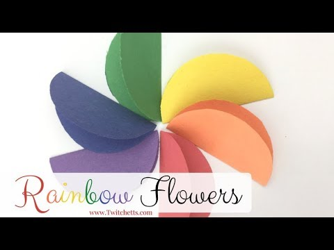 Construction Paper Crafts For Kids Rainbow Flowers Youtube