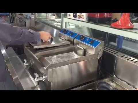 Commercial Double Electric Bench Top Deep Fryer