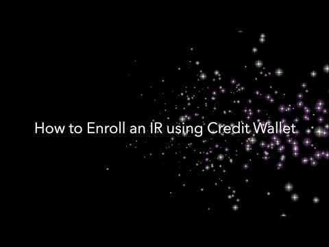 Video: How To Enroll An IR Using Credit Wallet