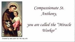 Video Prayer to Saint Antony of Padua - Patron Saint ╆ ╆ ╆ ╆ download MP3, 3GP, MP4, WEBM, AVI, FLV Juli 2018