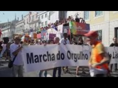 Thousands At Gay Parade In Lisbon
